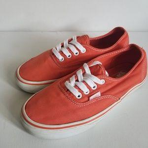 Used Authentic Orange Vans